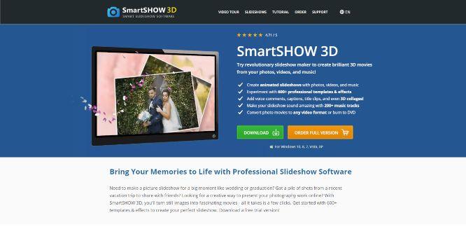 photo animation software smartshow3d