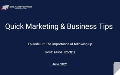 Quick Marketing & Business Tips – Episode 08