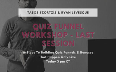 Quiz Funnel Workshop Final Session – A Quiz Funnel Made For You For Free