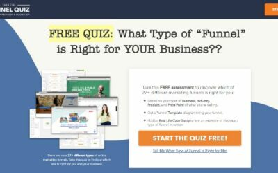 Free Quiz – What Type Of Funnel Is Right For Your Business?