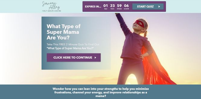 ryan levesque quiz funnel case studies janeen alley what type of super mama are you