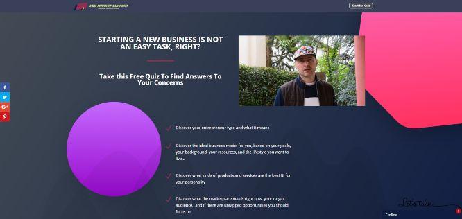 webmarketsupport - free quiz starting a new business