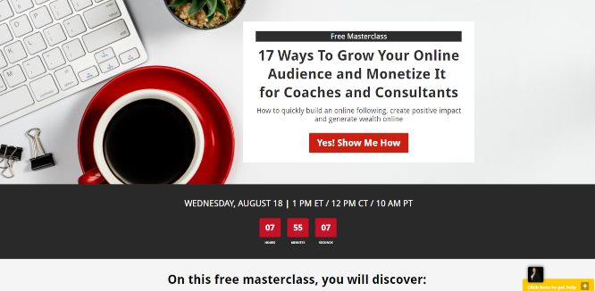 kim walsh phillips free masterclass grow & monetize audiences for coaches & consultants