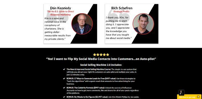 kim walsh phillips social selling machine 2.0 testimonials