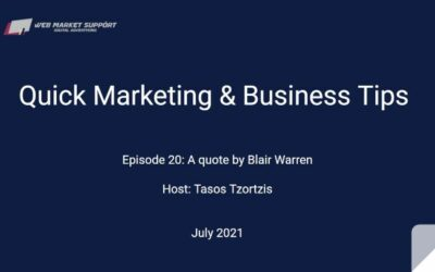 Quick Marketing & Business Tips – Episode 20