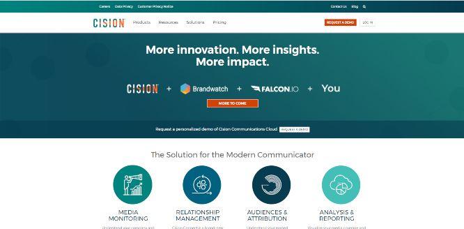 cision sales & marketing software