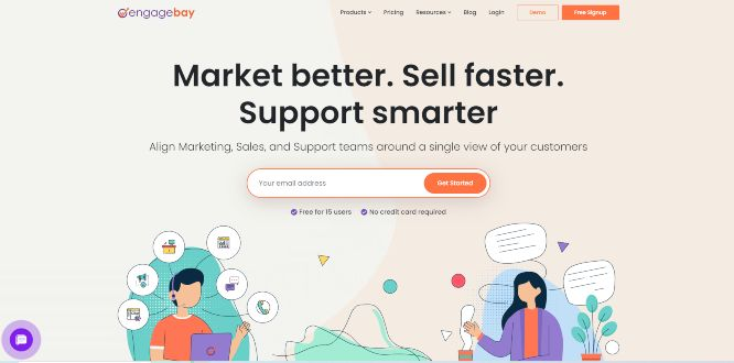 engagebay sales & marketing software