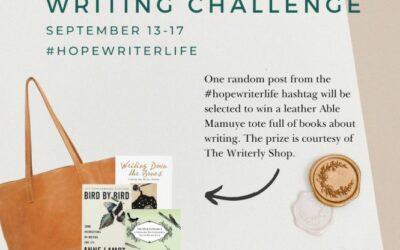 Hope Writers – Instagram Writing Challenge Sep 13-17, 2021