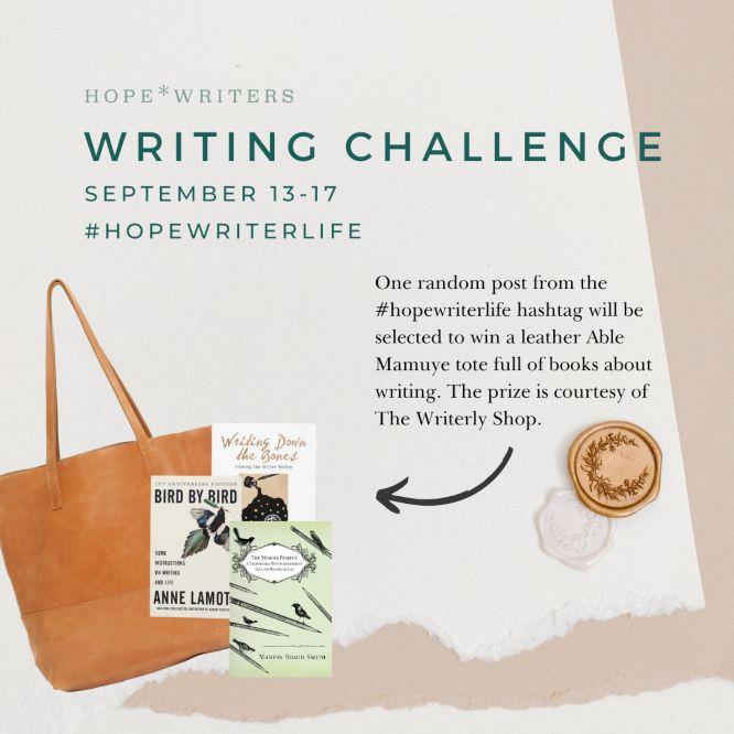 hope writers instagram writing challenge sep 13-17 2021