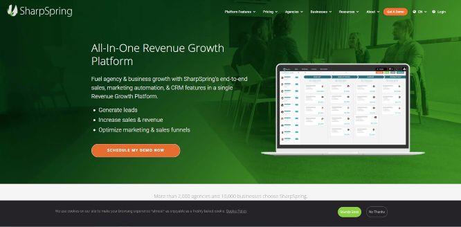 sharpspring sales & marketing software