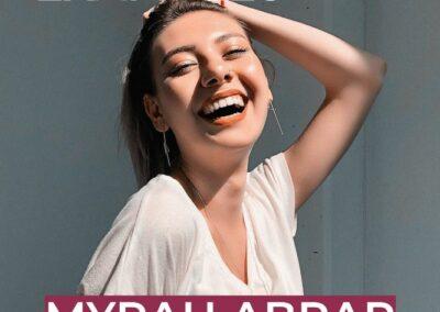 woman smiling magazine